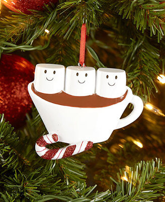 Marshmallows/Hot Chocolate Cups Family Personalized Christmas Ornaments