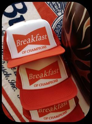 Breakfast of Champions beer funny Budweiser style hat miller coors vintage shirt