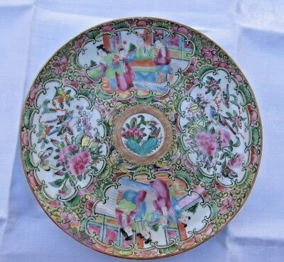 "Early Antique Rose Medallion 8"" plate"