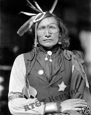 Photograph of Sioux American Indian Iron White Man Year 1900 8x10