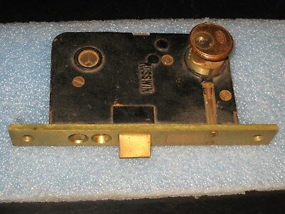 VINTAGE RUSSWIN HARDWARE ENTRY MORTISE LOCK w/CYLINDER