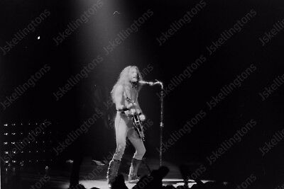 TED NUGENT live concert 1980s vintage 35mm photo Negative  Af16