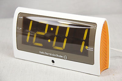 NIB REMINDER ROSIE Hands Free VOICE Activated CLOCK Meds Appointment REMINDERS +