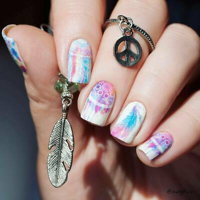 ❤️Nouveau Stickers Attrape Rêves Bijoux Ongles Water Decals Manucure Nail Art