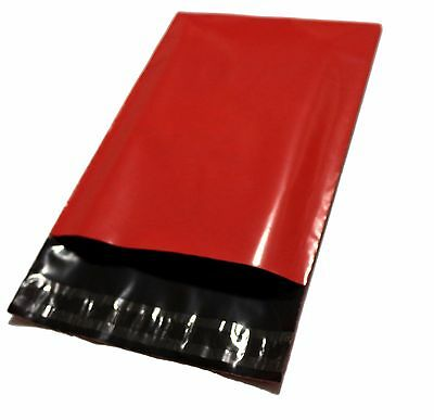 50 7.5x10.5 Red Poly Mailers Shipping Envelope Shipping Supplies Mailing Bags