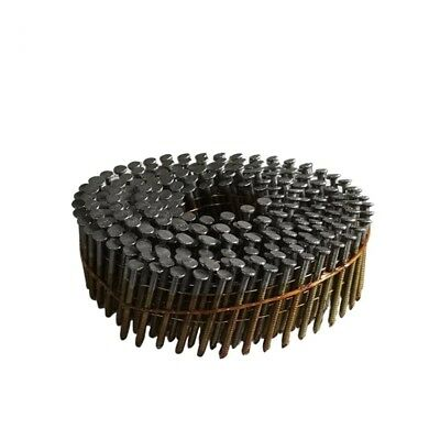"meite 15 Degree Full Round-Head 1-1/4"" × .083"" Wire Coil Ring Shank Siding Nails"