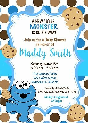 Cookie Monster Baby Shower Cookie Monster Baby Shower