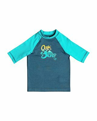 NEW QUIKSILVER™  Boys 2-7 Sunsetter Short Sleeve Rash Vest Boys Children