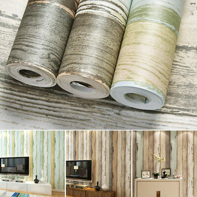 9.5M Realistic Wood Optic Panelling Timber Plank Wood Panel Stripe Wallpaper AU