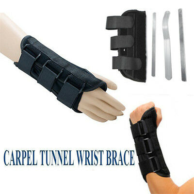 Wrist Splint Brace Protection Support Strap Carpel Tunnel Pain Relief CTS RSI KU