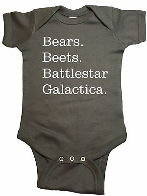 Bears Beets Battlestar Galactica The Office Infant Baby One Piece