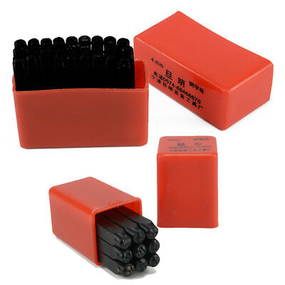 4mm 36Pcs Stamps Letters Alphabet Numbers Set Punch Steel Metal Tool Case Craft