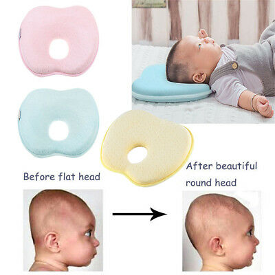Apple Baby Infant Newborn Memory Foam Pillow Prevent Flat Head Anti Roll Support