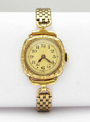 1920s A.Lecoultre Women's Vintage Wrist Watch Gold Filled 15 Jewels