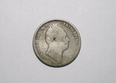 1834 Great Britain One Shilling Silver Coin UK