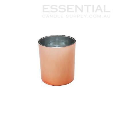 Glass Candle Jar 200ml Rose Gold x1
