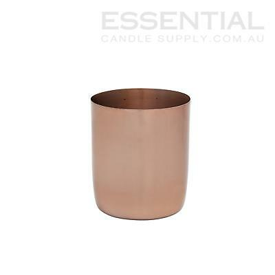 Copper Metal Candle Jar - Large x1