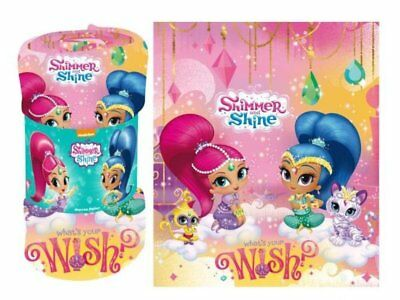 Shimmer and Shine Fleece Decke 100 x 140cm Kuscheldecke Kinder Tagesdecke NEU