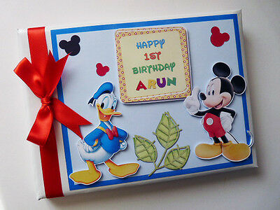 Personalised Disney Mickey & Donald Birthday Guest Book - Any Design
