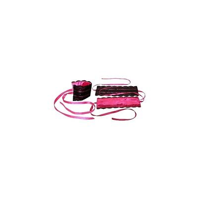 Pink Satin and Lace Lovers Kit sculacciatore paddle frusta master BDSM fetish se