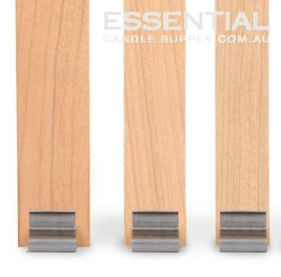 Candle Making Wood Wicks Size 1, 150mm long x 6.5mm (Small jars) Pack 10, with T