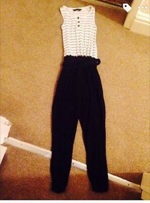 Girls Black ans White Jumpsuit - 6-7 years