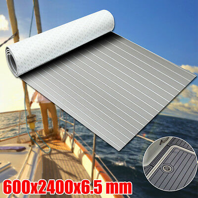 2400x600x5mm Boat Yacht Decking Teak EVA Floor Synthetic Sheet Foam Grey White