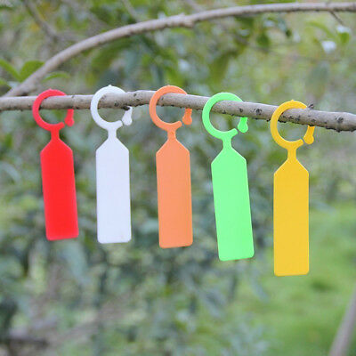 FX- 100Pcs Plastic Plant Markers Gardening Waterproof Blank Labels Tags Seraphic