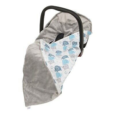 *New Cotton & Soft Plush Baby Car Seat Blanket - grey / white + colourful arrows