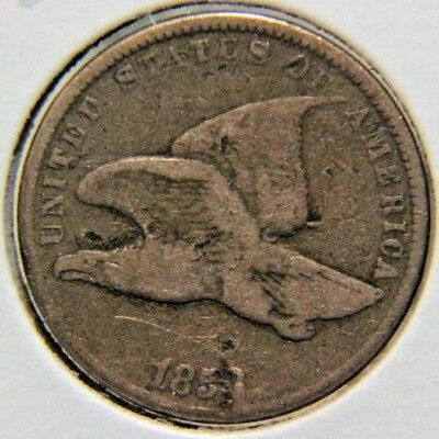 1858 1C Small Letters Flying Eagle Cent - Lot # PFE 103