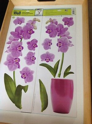 Main Street Wall Creations Jumbo Stickers Vinyl Wall Art Orchid Flowers Part 66