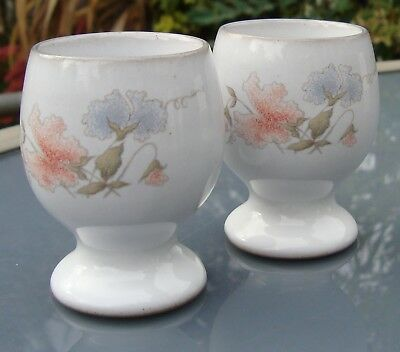 2x Denby Encore Sweet Pea egg cups - rounded shape