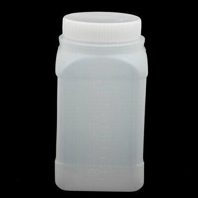 500ml Plastic HDPE Wide Mouth Lab Reagent Bottle Sample Sealling Thicken White