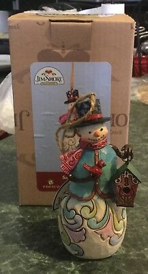 Jim Shore Heartwood Creek Snowman With Birdhouse Christmas Happy Winter 4027850