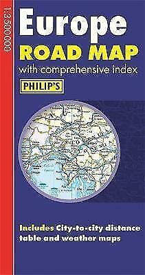 New, Philip's Europe Road Map (Philips Road Map), , Book