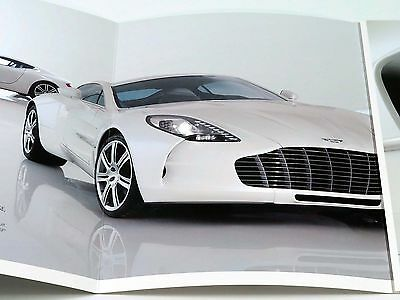 Aston Martin One-77 Sales Brochure Catalog 2011