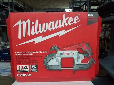 NEW Milwaukee 6232-21 Deep Cut Variable Speed Band Saw Kit