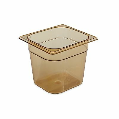 Rubbermaid Commercial Products 1/6 Size 2-1/2-Quart Hot Food Pan Amber (FG206...