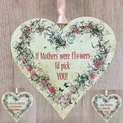 Gifts for Mum I'd pick you Floral Heart Mother Friend Plaque New Grandma Present