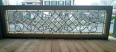 Antique Stained And Beveled Glass Transom Window