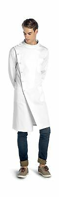 Dr. Howie Unisex White Lab Coat with Mandarin Collar  PROFESSIONAL QUALITY