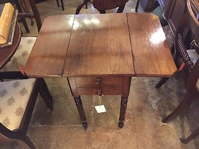Early 19th Century William IV Mahogany Pembroke Work Table