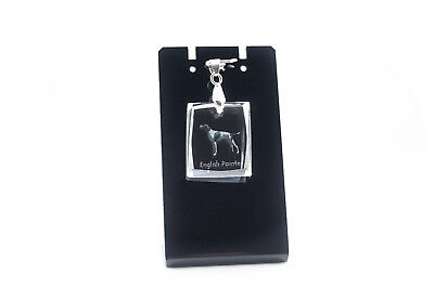 English Pointer, Dog Crystal Necklace, Pendant, High Quality, Crystal Animals CA