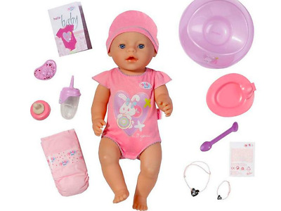 Baby Born Interactive Newborn Baby Girl Doll with Accessories 3-5Y Christmas TOY