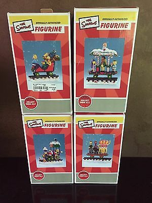 Simpsons Express Train Christmas Hamilton Collection Lot of 4 in box & 2 Free!