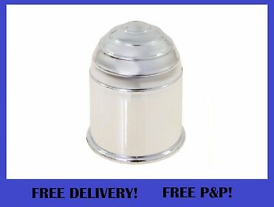 CHROME Plastic Tow Ball Cover Cap 50mm
