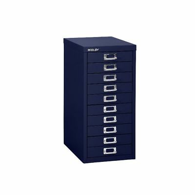 DARK BLUE 10 MULTI DRAWER 'BISLEY' FILING CABINET - BRAND NEW 590H x 279W x 380D