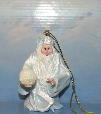 Santa Claus is Coming to Town Winter Warlock Holiday Ornament