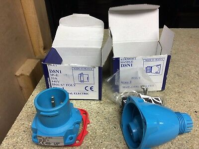 Plug & Cover 4 Pin 20 Amp Marechal DSN1   IP67