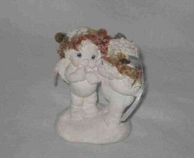 "Cute Vintage 2 3/4"" Dreamsicle Pair Figurine Kristin 1995 Signed"